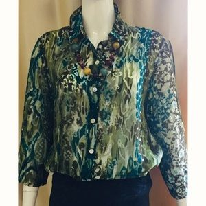 Alfred Dunner Button down blouse